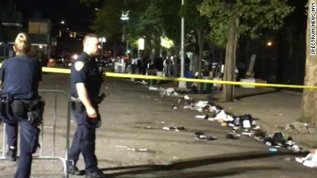 Gunfire erupts at a Brooklyn park, leaving 1 dead and 11 injured, New York police say