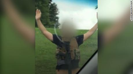 A heavily armed man was arrested at a Missouri Walmart after causing panic inside, police say