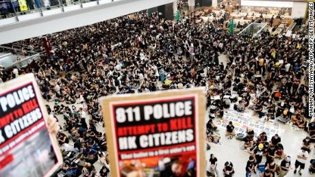 Hong Kong pushed to the 'brink of no return' as airport protests continue