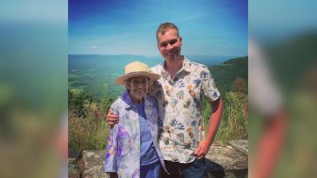 grandson is taking grandma