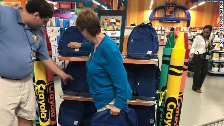 Teachers shop for free supplies at Crayons to Computers, part of Kids in Need's network in Cincinnati.