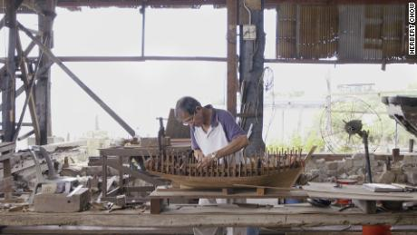 The master shipbuilder keeping Macao's maritime past alive -- in miniature
