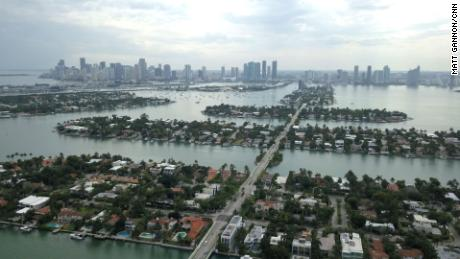 Many places in Miami, Miami Beach and the surrounding islands sit just feet above sea level.