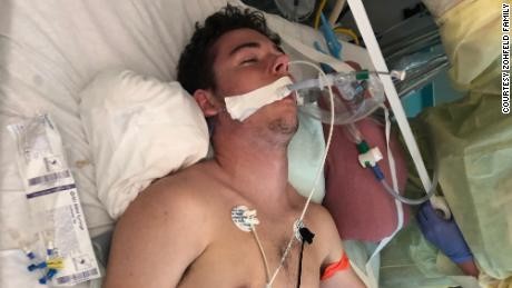 """""""I had multiple IVs pumping heavy medicines through both my arms,"""" Tryston said."""
