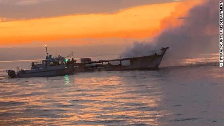 The Conception was carrying 33 passengers on a diving excursion when a fire broke out.