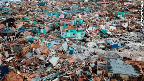 Hurricane Dorian's path and destruction