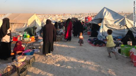 While some women continue to enforce ISIS' draconian rules, camp officials struggle to track down perpetrators.  The women are nearly impossible to identify due to the niqab, and switch from tent to tent to avoid capture.