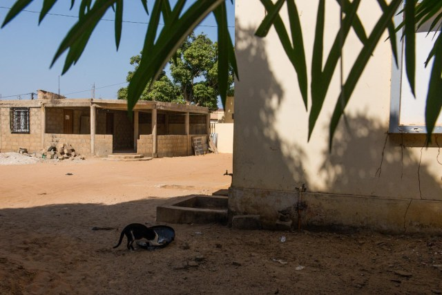 An exterior view of the clinic in Sébikhotane