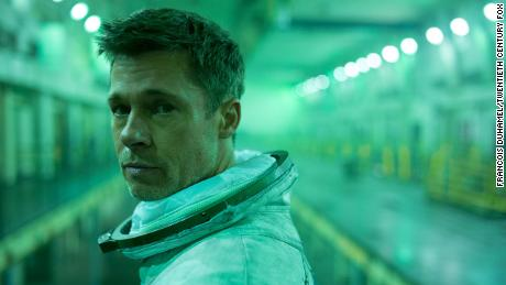"Brad Pitt stars as tortured astronaut Roy McBride in ""Ad Astra."""