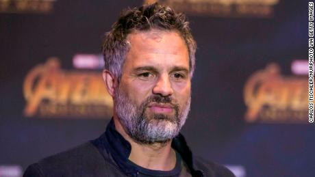 Mark Ruffalo speaks at a press conference for  'Avengers: Infinity War' in Mexico City on April 5, 2018.