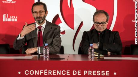 Lille's former general director Marc Ingla (L) and former sporting director Luis Campos (R).
