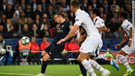Gareth Bale's effort was ruled out for handball.
