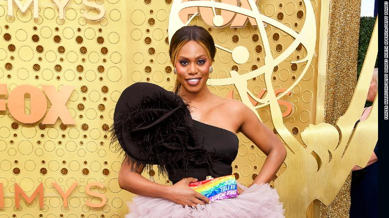 Award-winning actress Laverne Cox, shown here at the 71st Emmy Awards at the Microsoft Theatre in LA on September 22, 2019, is an advocate for LGBTQ rights.