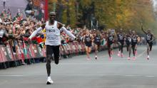 Kenya Eliud Kipchoge became the first to run a marathon in less than two hours.