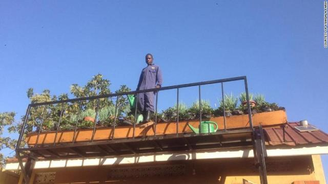 In Kampala, Uganda, city dwellers are taught to grow produce on their rooftops.