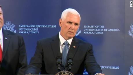 Pence announces Syria ceasefire that appears to give Turkey everything it wants