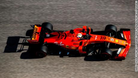 Vettel during practice for the F1 Grand Prix of USA.