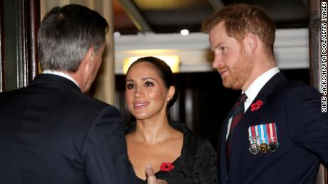 Meghan, Duchess of Sussex, and Prince Harry, Duke of Sussex, attend the annual Royal British Legion Festival of Remembrance at the Royal Albert Hall.