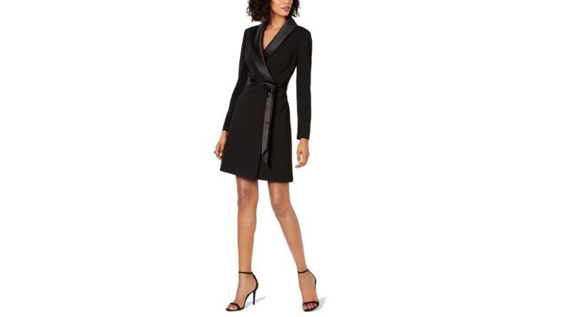Adrianna Papell tuxedo sheath dress