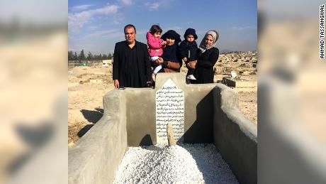 Ahmad and Hamisha Tassangwal took their son's body back to Kabul where he was buried on November 1.