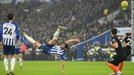 Iranian star Jahanbakhsh denies Chelsea with overhead wonder goal