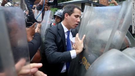 Chaos and a political showdown at Venezuela's National Assembly
