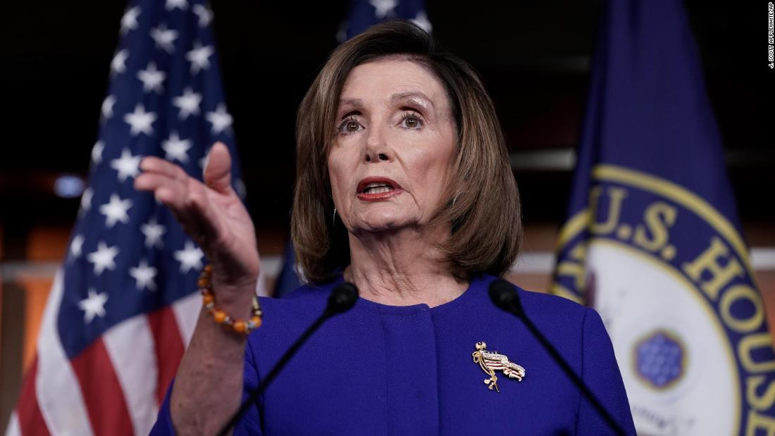Photo of Nancy Pelosi on Mitch McConnell: Supporting dismissal of impeachment articles is a 'cowl up'