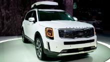 Kia Telluride was unveiled at last year's Detroit Auto Show in January.