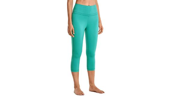 CRZ Yoga Women's Naked Feeling High-Waist Crop Capri Yoga Pants
