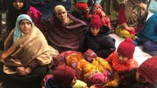 Women gather on December 27, 2019, at Shaheen Bagh, a neighborhood in the Indian capital of New Delhi.