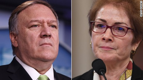 Mike Pompeo and Marie Yovanovitch