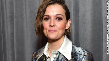 Brandi Carlile attends the 62nd Annual Grammy Awards at Staples Center in LA, January 26, 2020.