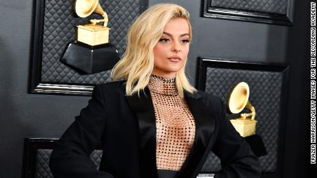 Bebe Rexha attends the 62nd Annual Grammy Awards at LA's Staples Center on January 26, 2020.