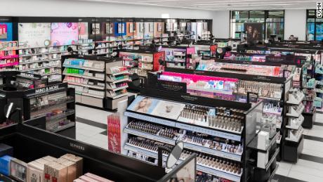 The interior of a new smaller Sephora.