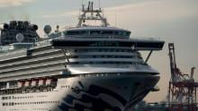 The Diamond Princess cruise on February 12, 2020 in Yokohama, Japan.