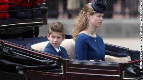 James, Viscount Severn and Lady Louise Windsor during Trooping The Colour, the Queen's annual birthday parade, on June 8, 2019 in London, England.  (Photo by Chris Jackson/Getty Images)