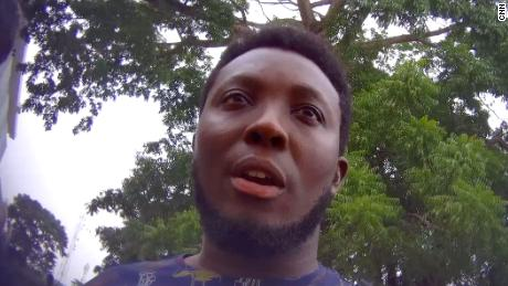 Seth Wiredu, seen here in a frame from a hidden camera video, said he had no idea why his offices were raided by Ghanaian security forces.