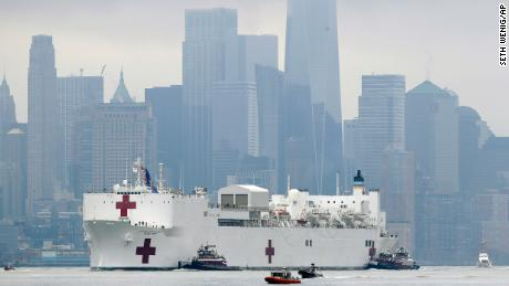 Navy hospital ship deployed to NYC with 1,000 bed capacity is only treating 20 patients