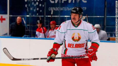 'Better to die standing than to live on your knees,' says Belarus President Alexander Lukashenko at ice hockey match