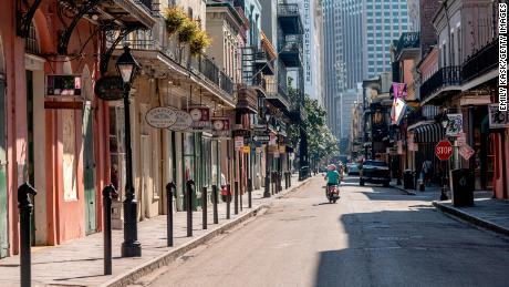 Royal Street is pictured in March during the stay-at-home mandate in New Orleans.