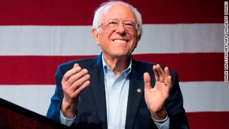 Democratic White House hopeful Vermont Senator Bernie Sanders arrives to speak during a campaign rally at the Convention Center in Los Angeles, California on March 1, 2020.