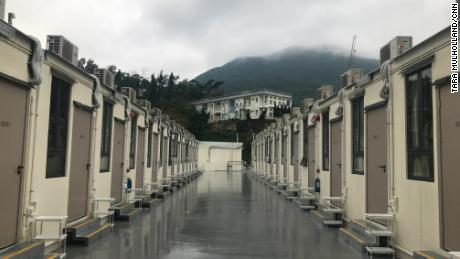 This holiday park is one of the many facilities used as coronavirus quarantine centers in Hong Kong