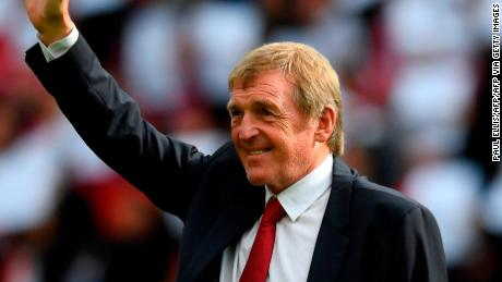 Kenny Daglish acknowledges the applause of fans after having a stand at Anfield named after him in 2017 in recognition of his achievements as a player and manager at Liverpool. )