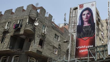 Billboards for a Ramadan TV series in Cairo in 2018.