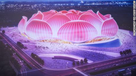 Un club chinois commence à construire le plus grand stade de football du monde pour 1,7 milliard de dollars