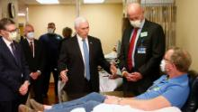 Vice President Mike Pence visited the Mayo Clinic on April 28 without a mask, in violation of the health care facility's rules. He later said he should've worn one.