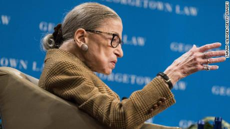 Ruth Bader Ginsburg participates in Supreme Court arguments from hospital