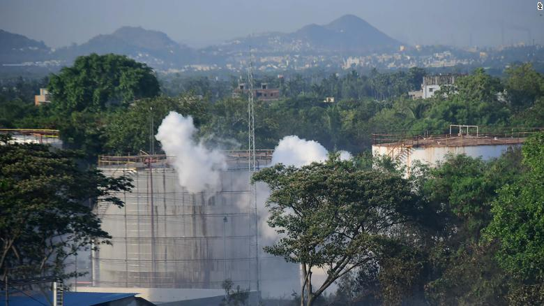 The photos of Thursday's incident have drawn parallels with the Bhopal gas leak in central India -- one of the world's worst industrial disasters.