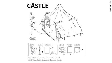 Ikea's instructions for building the best pillow forts are