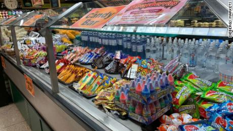 What used to be a salad bar at one Dierbergs supermarket is now a candy bar.